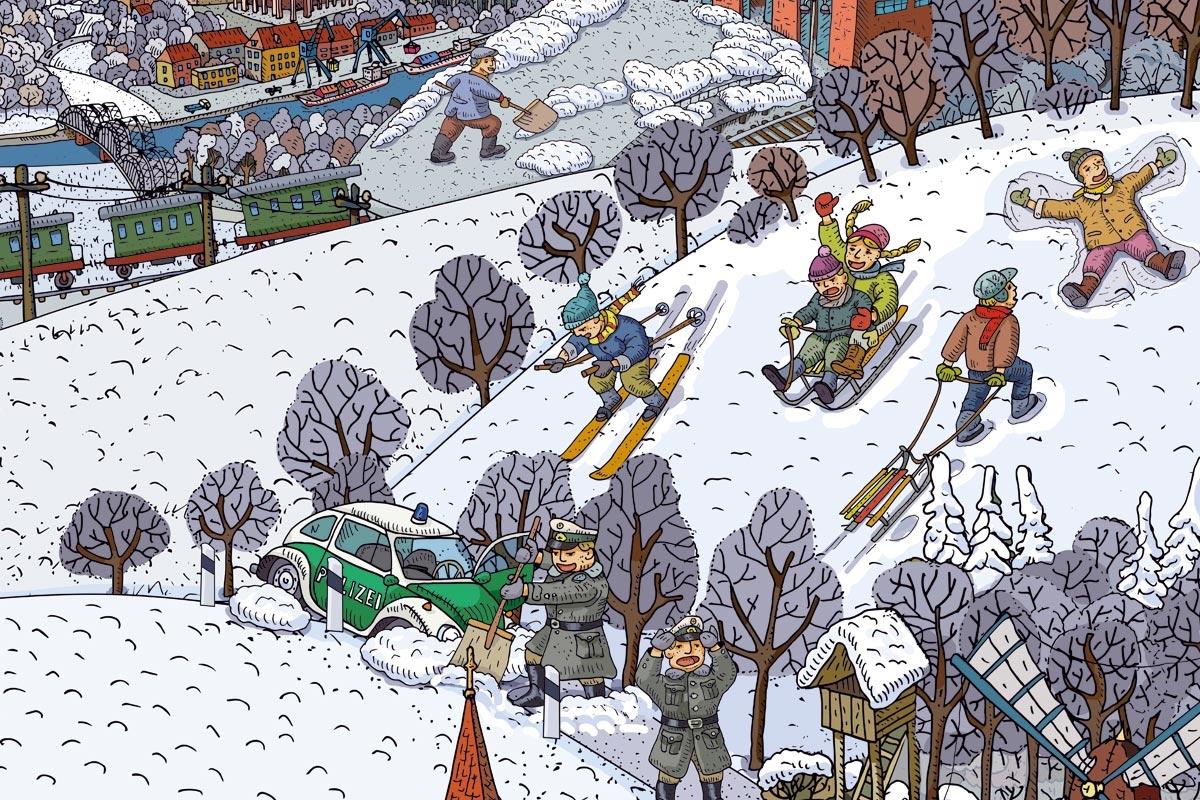 Wimmelbild Winter
