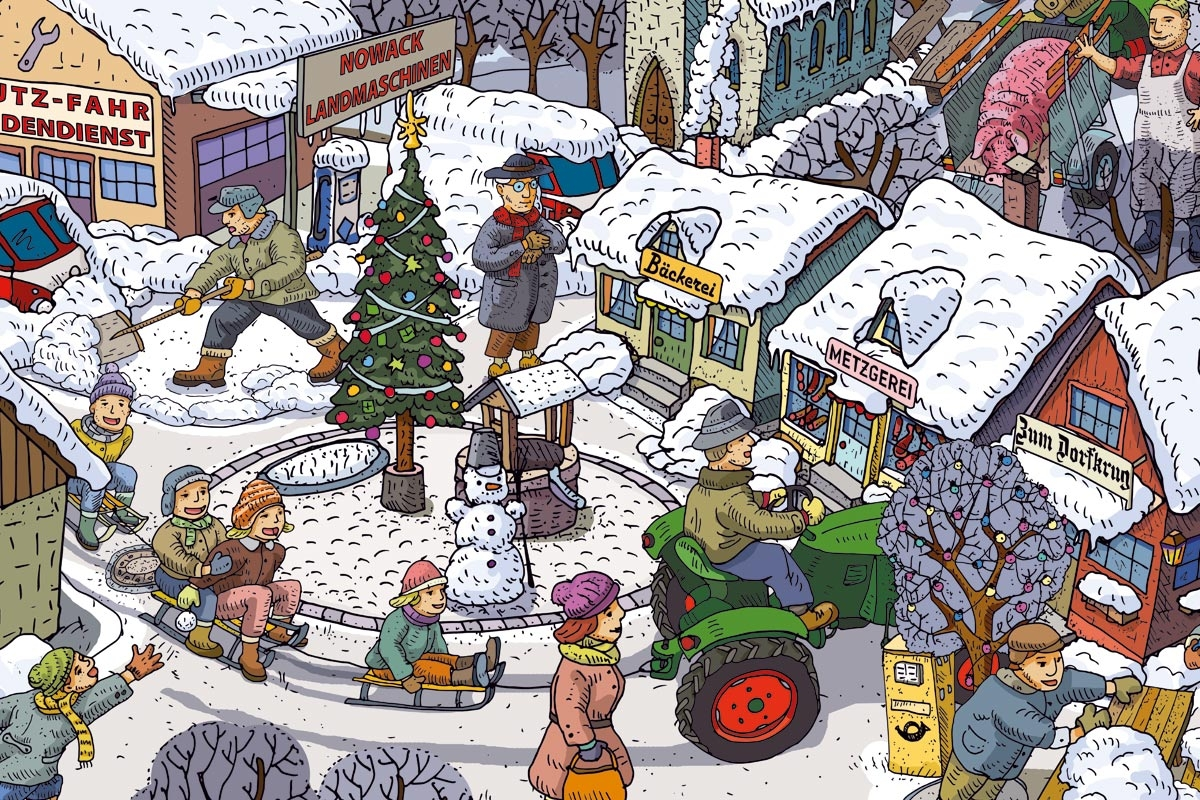 Wimmelbilder Winter