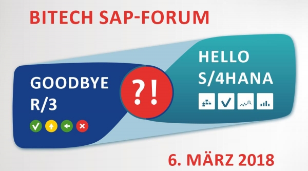 Bitech SAP-Forum 2018 im Bayer Kasino